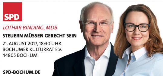 Steuern müssen gerecht sein - mit Lothar Binding, MdB und Michelle Müntefering, MdB