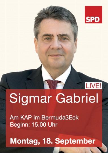 Sigmar Gabriel am KAP im Bermuda3eck Bochum - Montag, 18. September 2017, 15:00 Uhr