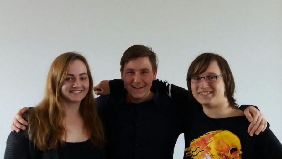 Juso-SchülerInnen Bochum: Lara Werdehausen, Jan Eric Wolf und Leon Machunze