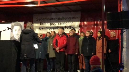 Gedenken Reichspogromnacht am 9.11.2017 - IG Metall-Chor Chorrosion