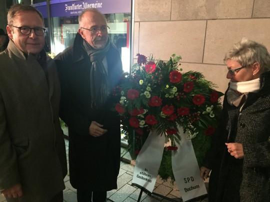 Gedenken Reichspogromnacht am 9.11.2017 - Karsten Rudolph, Axel Schäfer, Carina Gödecke