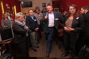 SPD Bochum Neumitgliedertreffen: MdB Axel Schäfer bei der Begrüßung
