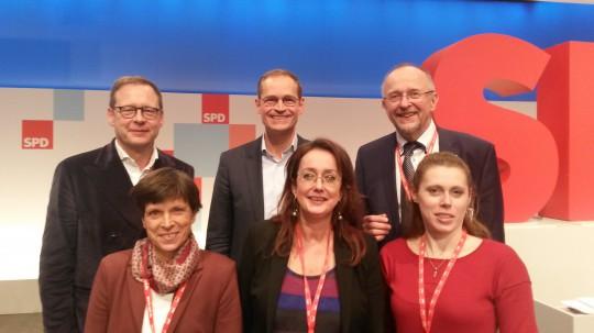 SPD Bochum auf dem Bundesparteitag 2017 in Berlin mit dem regierenden Bürgermeister Michael Müller #spdbpt17