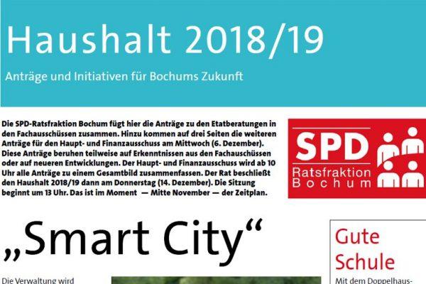 SPD-Ratsfraktion Bochum: Etat 2018/18