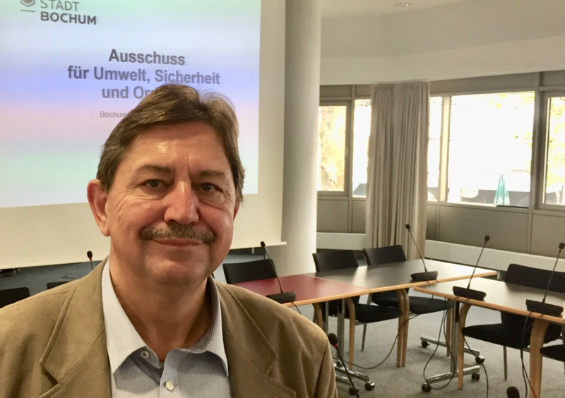 SPD-Ratsfraktion Bochum: Klaus Hemmerling ist Sprecher der SPD im Ausschuss für Umwelt, Sicherheit und Ordnung.