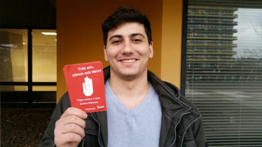 Ulaș Ceylan: Tritt ein, stimm mit Nein! (Aktion #NoGroKo der Jusos Bochum)