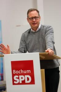 Parteitag der SPD Bochum #spdBOpt am 05.02.2018: Karsten Rudolph, der Vorsitzende der SPD Bochum, bei seiner Eröffnung (Foto: Werner Sure)