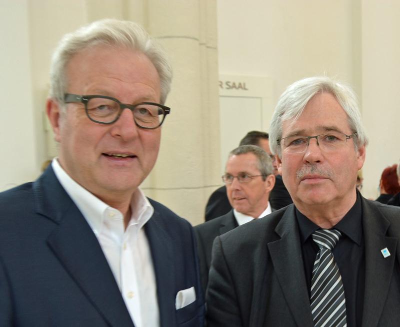SPD-Ratsfraktion Bochum: Michael Townsend (li.) und Dr. Peter Reinirkens (Vorsitzender der SPD-Ratsfraktion Bochum)
