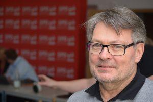 SPD-Ratsmitglied Hans-Peter Herzog begrüßt die Pläne, den Skatepark an den Open Space anzubinden.