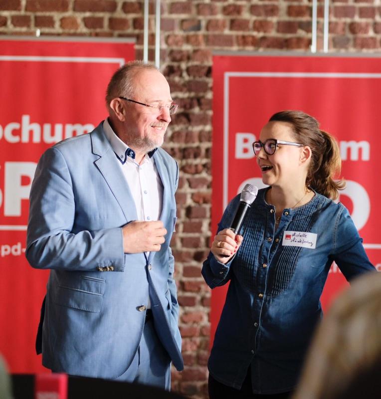 Neumitgliederempfang der SPD Bochum (01.07.2018): Axel Schäfer MdB und Michelle Müntefering MdB