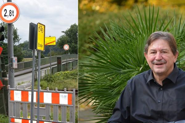 SPD-Ratsmitglied Klaus Hemmerling freut sich über den Plan der Verwaltungen zur Pontonbrücke.