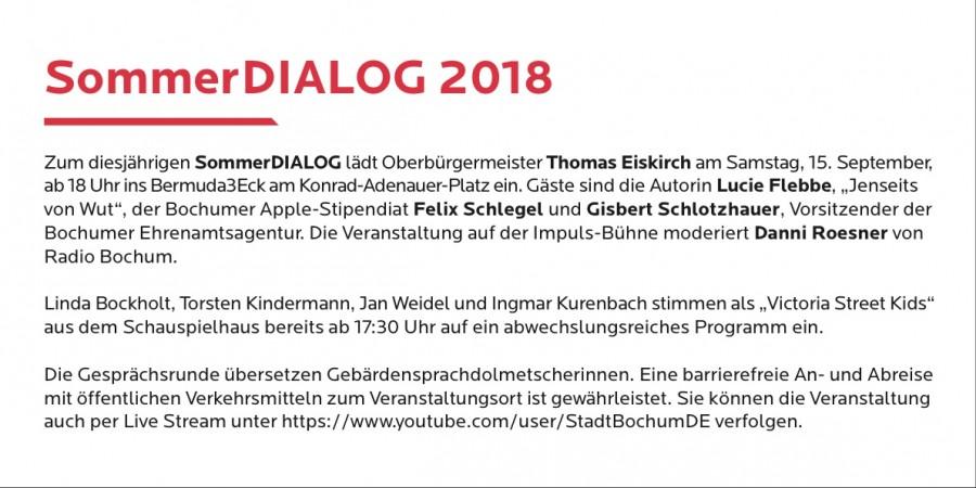 SommerDIALOG 2018 (Einladungskarte - Rückseite)