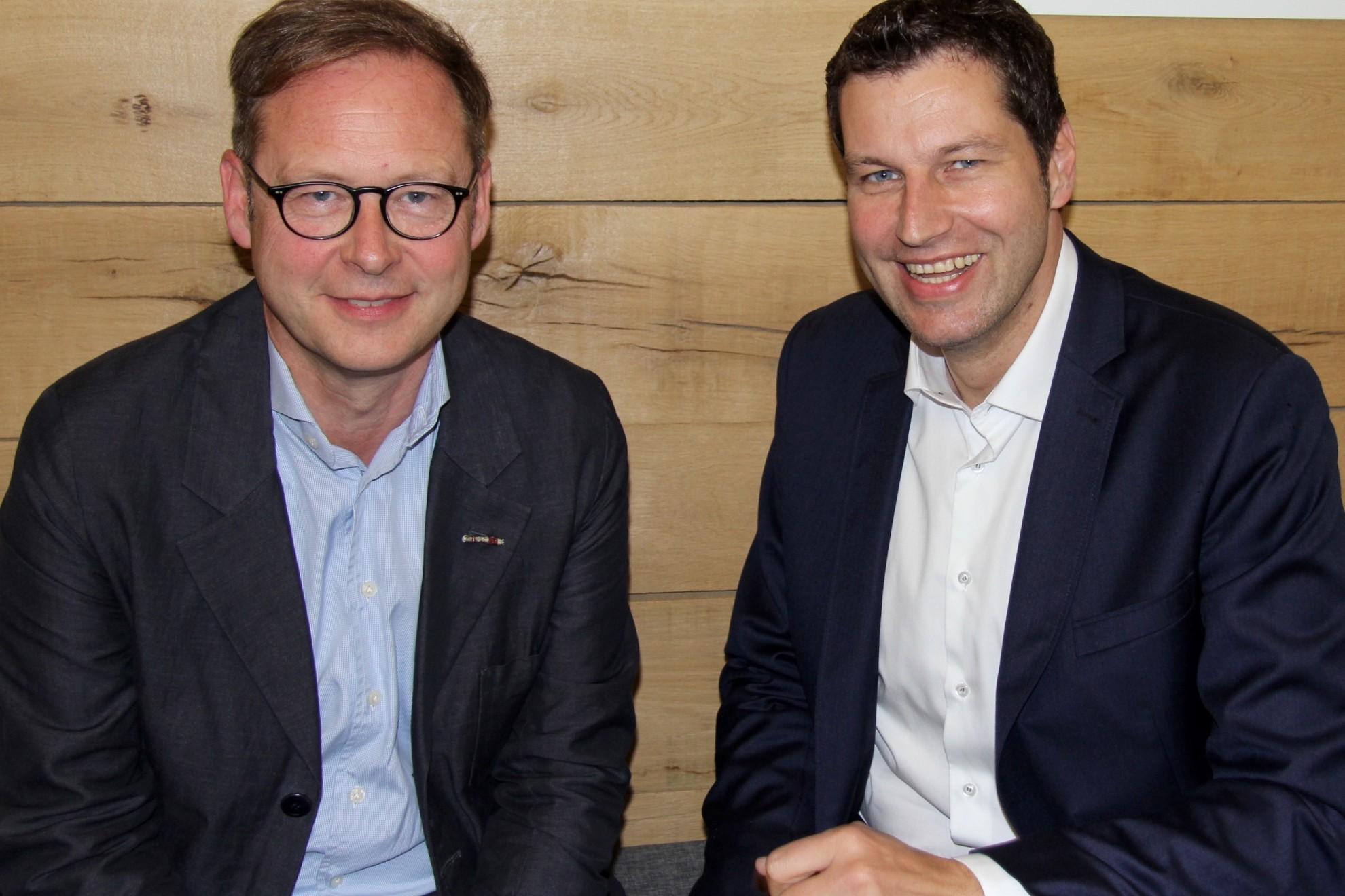 Karsten Rudolph (Vorsitzender der SPD Bochum) zusammen mit Thomas Eiskirch (Oberbürgermeister der Stadt Bochum) - Archivbild
