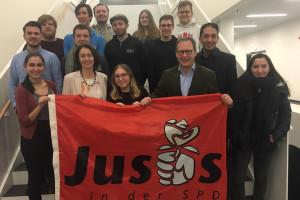 Jusos Bochum treffen Katarina Barley, die Spitzenkandidatin der SPD zur kommenden Europawahl