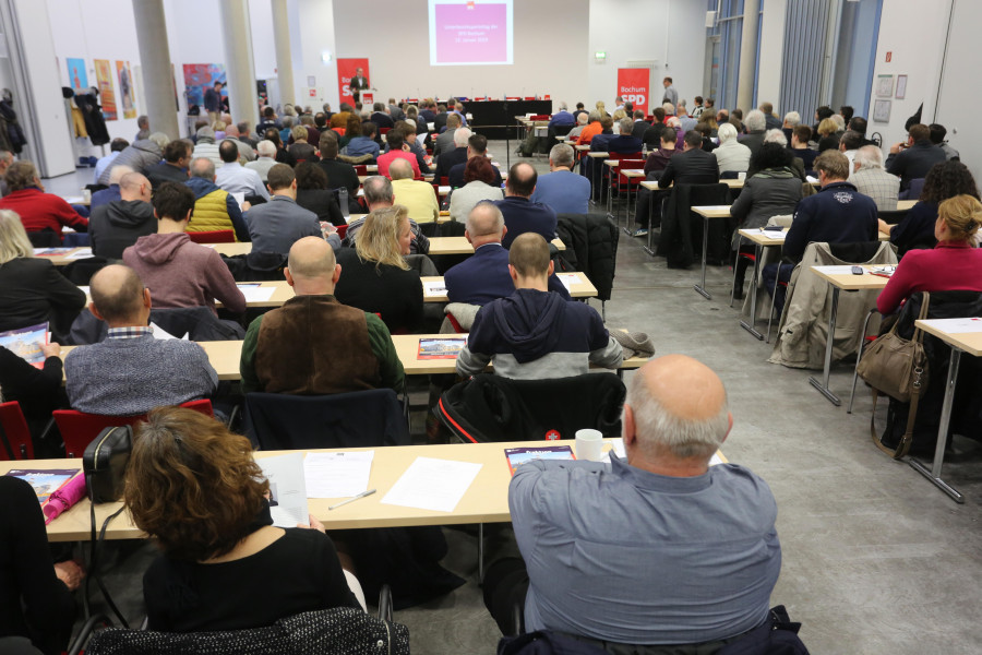 Parteitag der SPD Bochum #spdBOpt (12.01.2019): Blick auf die Delegierten und Gäste des Parteitages