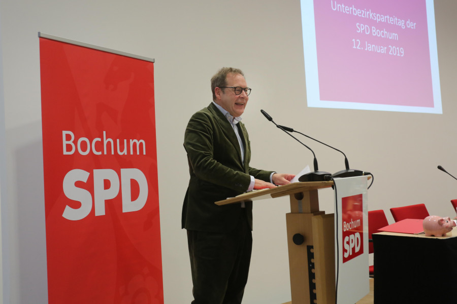 Archivbild: Parteitag der SPD Bochum #spdBOpt (12.01.2019): Karsten Rudolph, der Vorsitzende der SPD Bochum