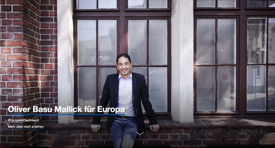 Startseite von Oliver Basu Mallick für Europa