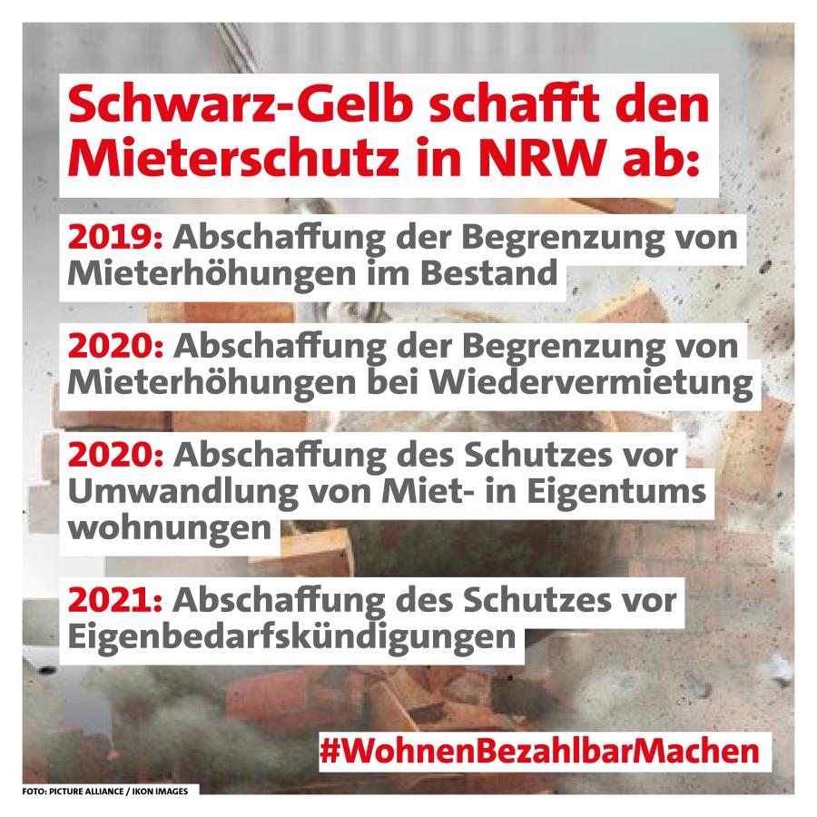 Schwarz-Gelb schafft den Mieterschutz in NRW ab #WohnenBezahlbarMachen