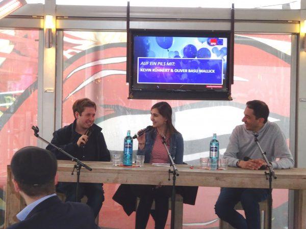 Auf ein Pils mit Kevin Kühnert und Oliver Basu Mallick: bei der Diskussion