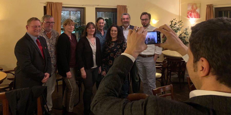 SPD Bochum: Vorstand des Stadtbezirkes Süd am Tag der Vorstandswahl (2019) - mit Oberbürgermeister Thomas Eiskirch
