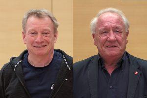 Stephan Kosel (li.) und Reiner Kühlborn bedauern die vorzeitige Schließung des Freibads Werne.