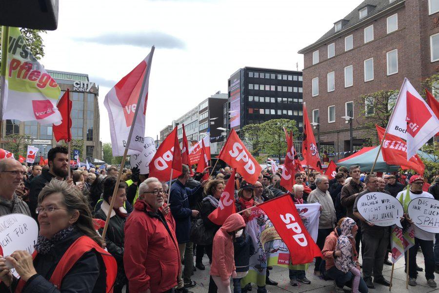 1. Mai 2018 (Tag der Arbeit) auf dem Willy-Brandt-Platz in Bochum