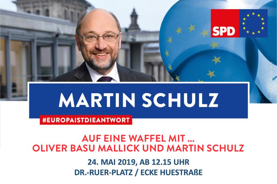Auf eine Waffel mit ... Oliver Basu Mallick und Martin Schulz