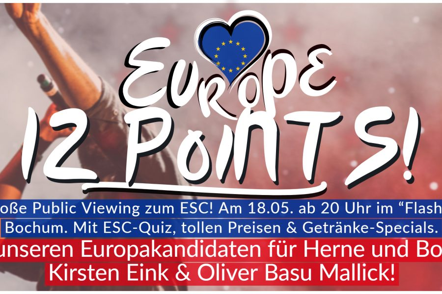 Europe 12 Points: Public Viewing zum ESC