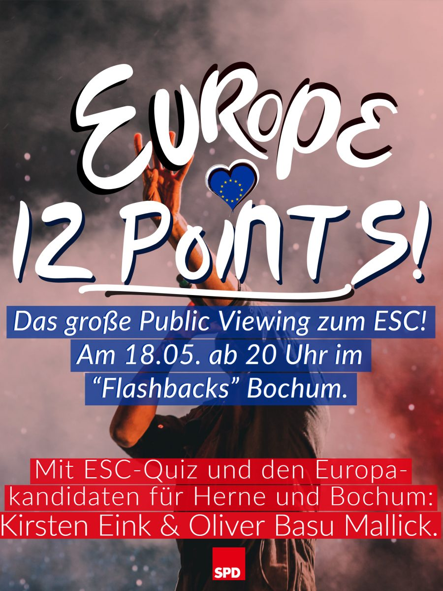Europe 12 Points: Public Viewing zum ESC (Flyer - Vorderseite)