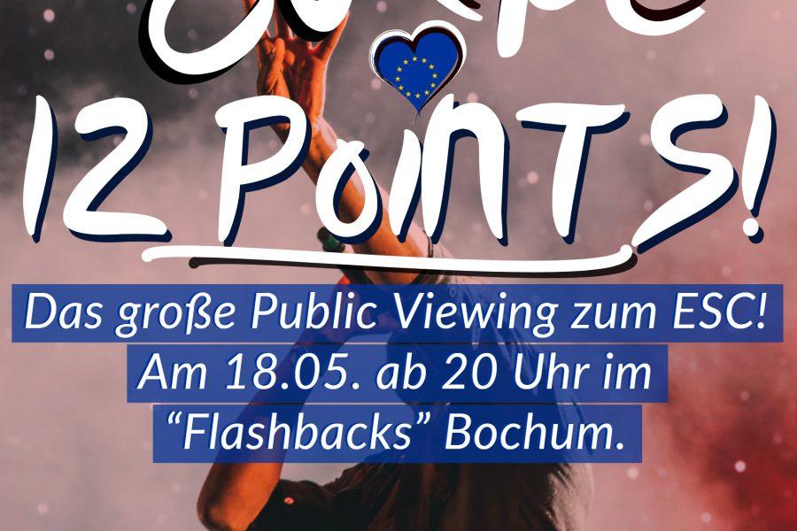 Europe 12 Points: Public Viewing zum ESC (Flyer - Vorderseite)