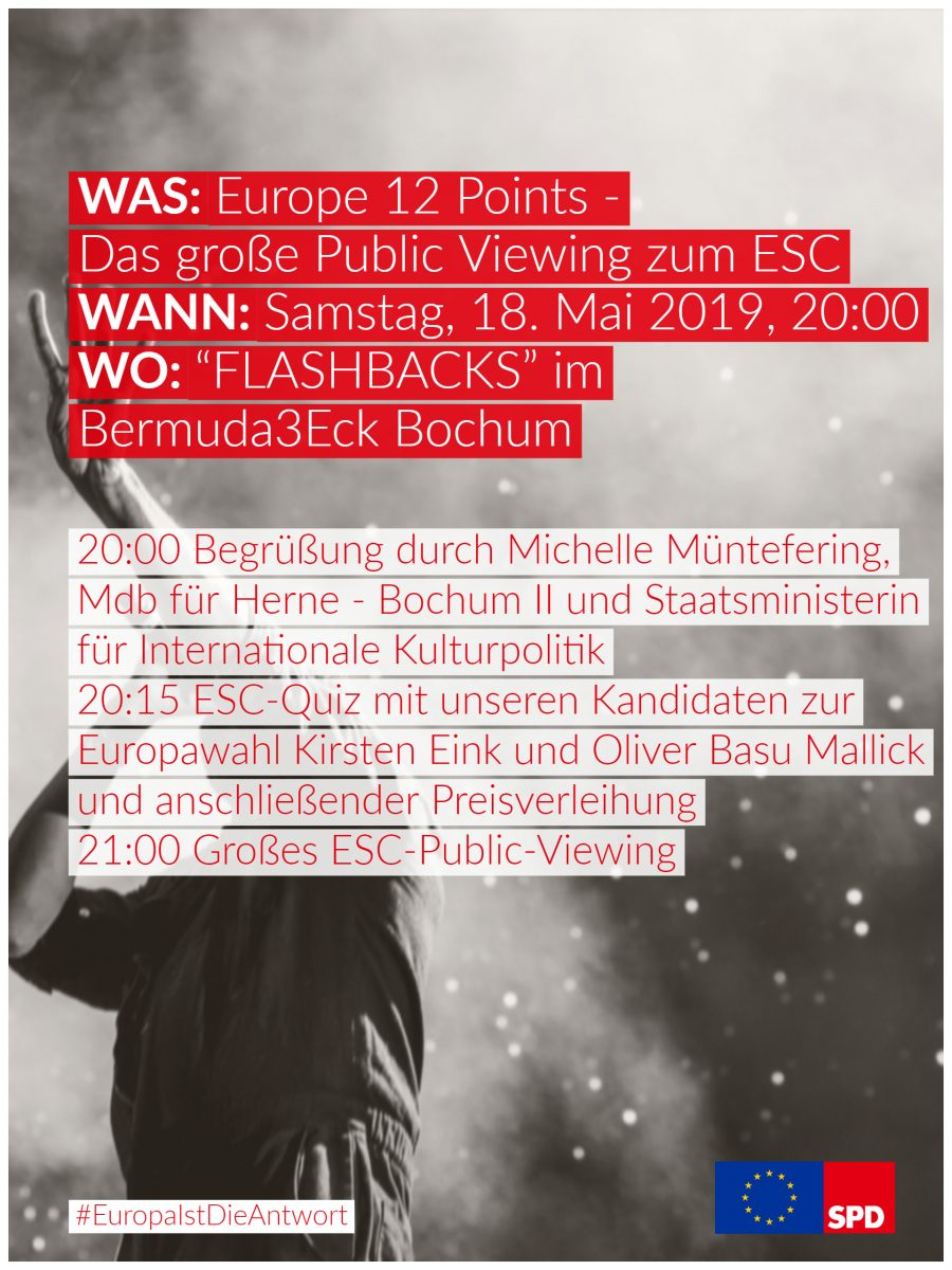 Europe 12 Points: Public Viewing zum ESC (Flyer - Rückseite)