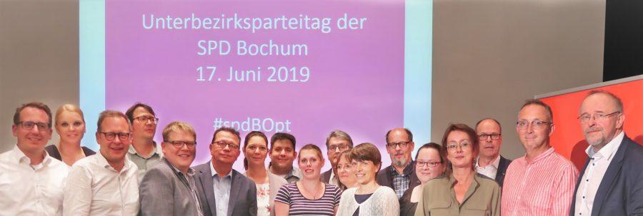 Vorstand der SPD Bochum (gewählt beim Unterbezirksparteitag der SPD Bochum #spdBOpt am 17. Juni 2019)