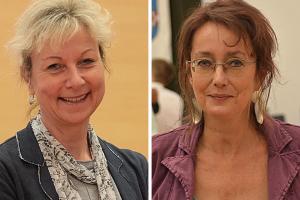 Martina Schnell und Simone Gottschlich hoffen, dass die Stadt die Erneuerung der Brücke am Lohring zum Abriss der alten Buselohbrücke nutzt.