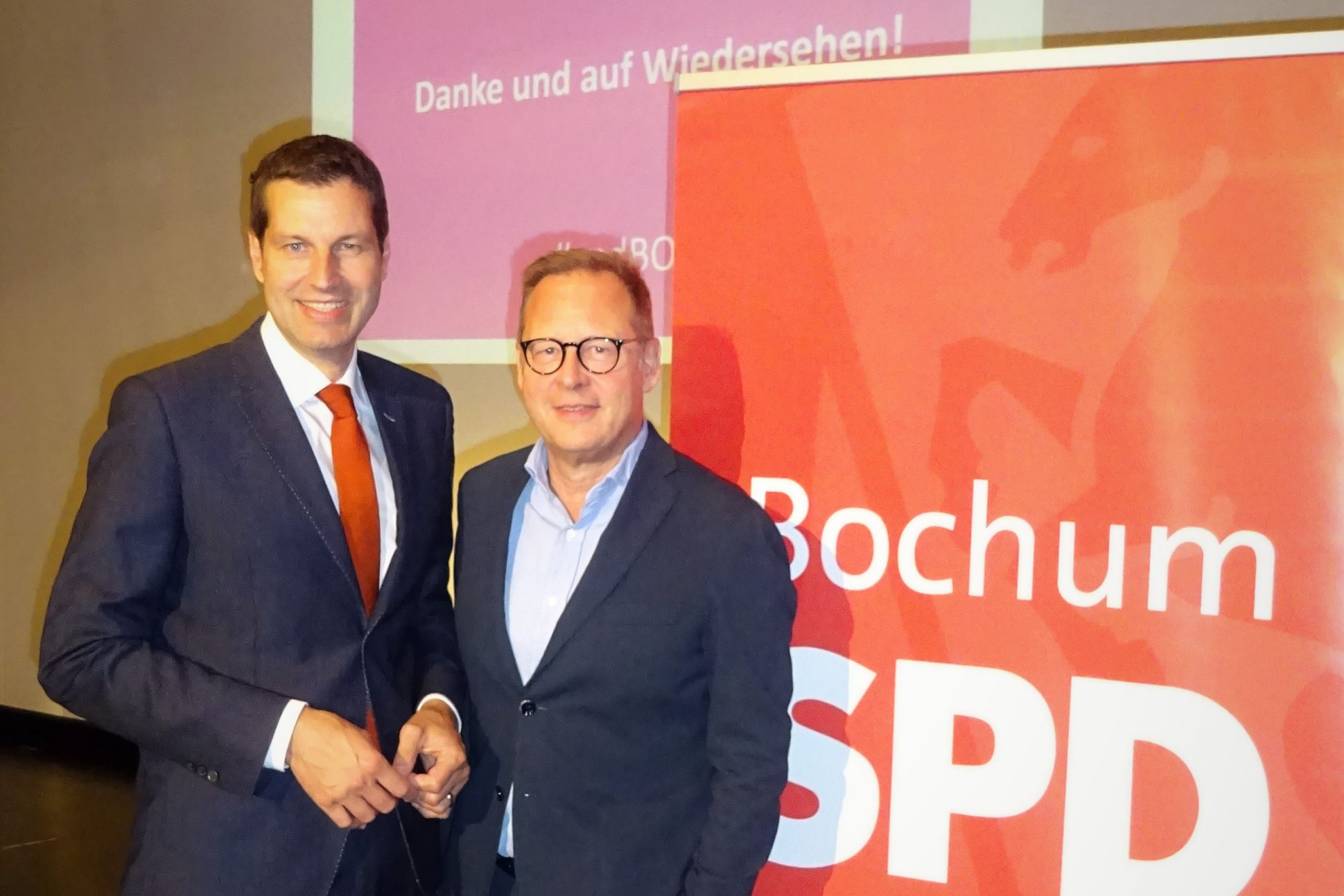 Thomas Eiskirch und Karsten Rudolph auf dem Parteitag der SPD Bochum am 16. September 2019