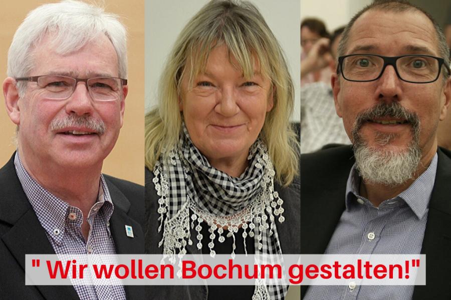 Peter Reinirkens, Gaby Schäfer, Fred Marquardt (v.l.) und die gesamte SPD im Rat wollen die finanziellen Freiräume nutzen, um Bochum nachhaltig und gemeinsam mit allen Bürgerinnen und Bürgern zu gestalten.