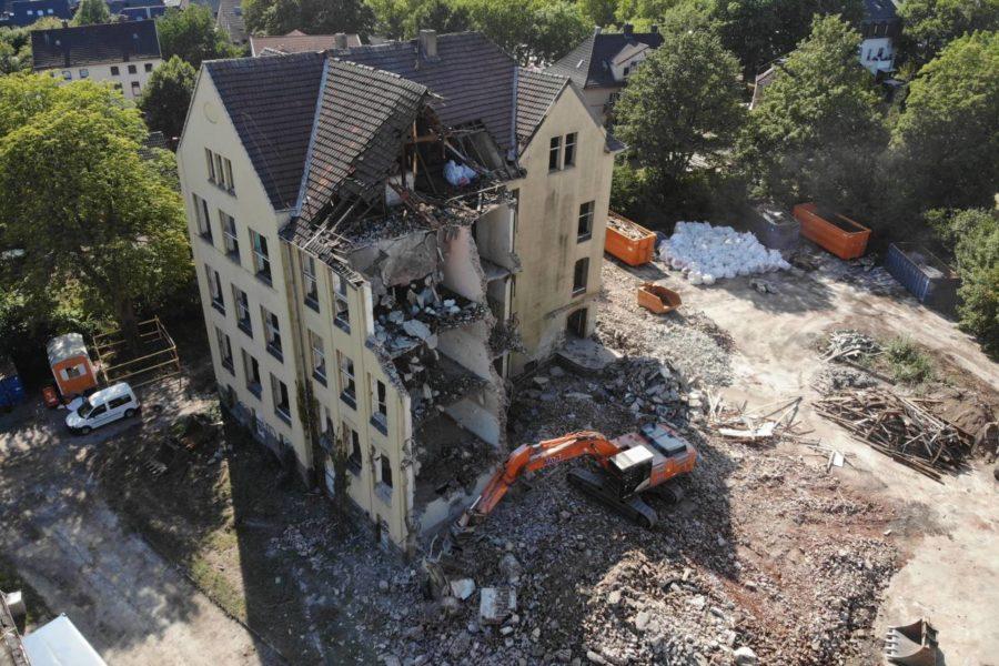 Die ehemalige Schule an der Lindener Straße wird abgerissen.