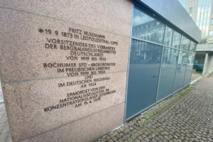 Auch nach der Neugestaltung soll auf dem Husemann-Platz an Frit Husemann erinnert werden.
