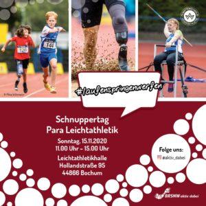 Flyer des Para-Leichtathletik-Schnuppertags