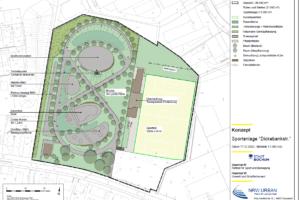 Das Konzept sieht für die Dickebankstraße ein Gelände mit Möglichkeit für Bewegung für alle Altersgruppen vor. Bild: Stadt Bochum