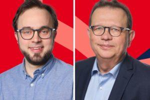 Bastian Hartmann (l.) und Jörg Uwe Kuberski wünschen sich, dass die Riemker Wilbergschule schnell erweitert wird.