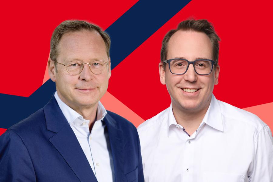 Karsten Rudolph (l.) und Burkart Jentsch verurteilen den Angriff auf die Synagoge scharf.