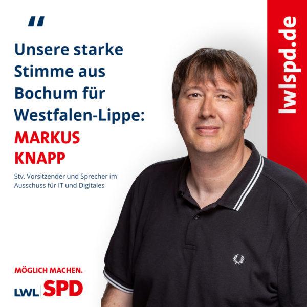Auch Markus Knapp vertritt Bochum im LWL. Foto: LWLSPD