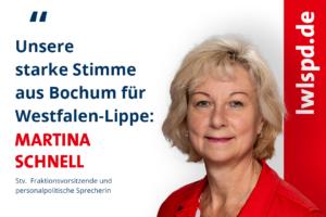 Martina Schnell vertritt Bochum im LWL.